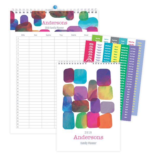 Personalized family planner from Stuck on You (sponsor)
