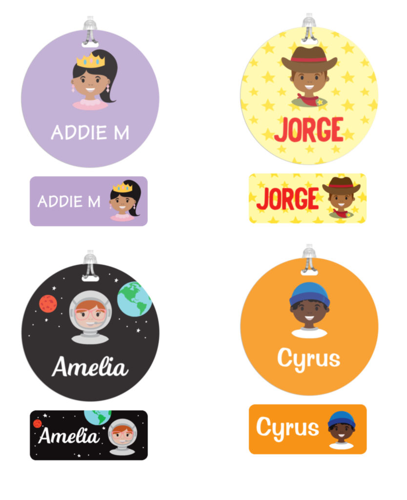 New Mini-Me personalized labels from Stuck On You can be customized to look like your child! | sponsor