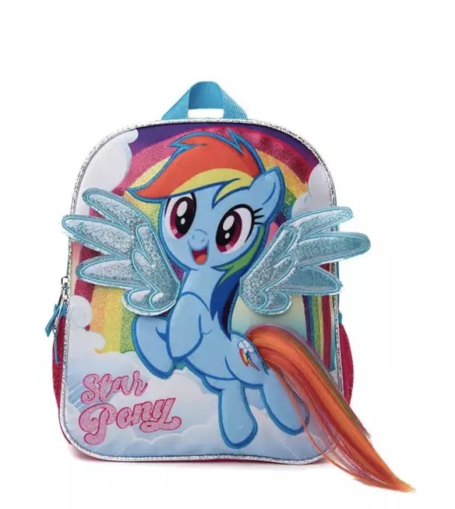 Rainbow Dash My Little Pony mini backpack for preschool or kindergarten | Back to school guide 2019