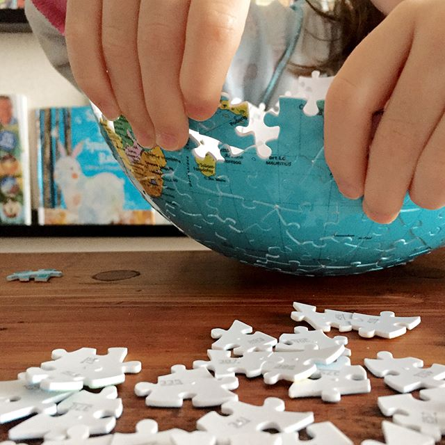 Ravensburger 3D puzzle globe | Coolest gifts for 8 year olds | image: raising wildlings