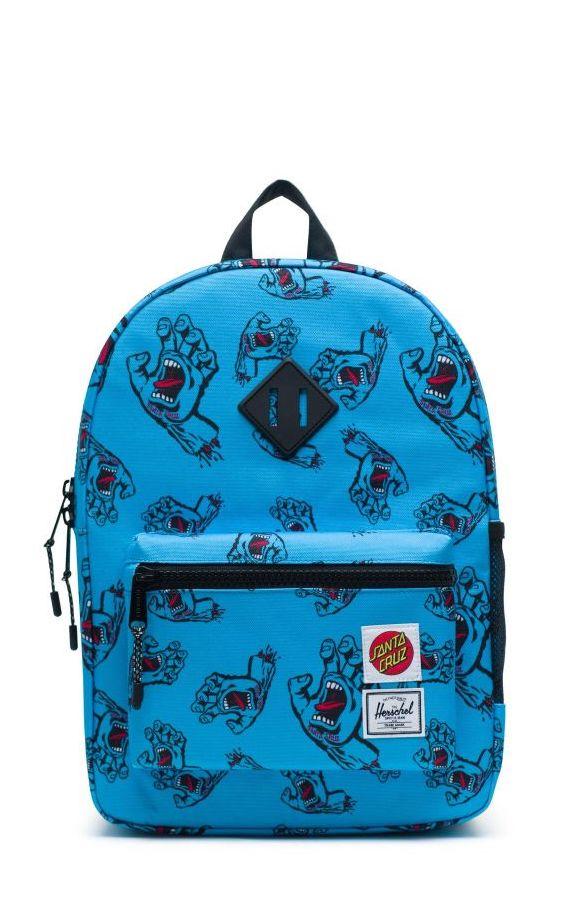 Coolest backpacks for grade school: Santa Cruz Skateboard heritage backpack from herschel | Back to school guide 2019 Cool Mom Picks