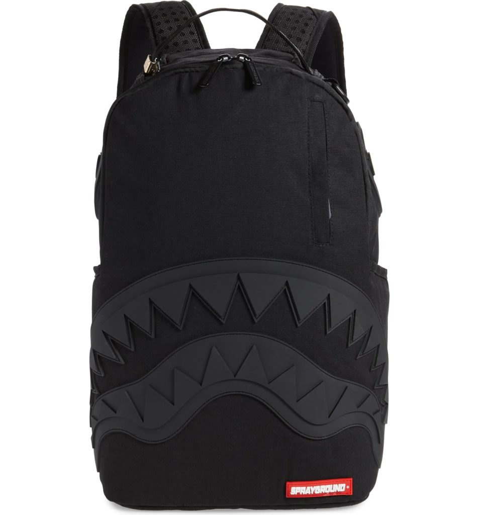 Coolest backpacks for grade school: Sprayground Ghost rubber shark backpackl | Back to school guide 2019 Cool Mom Picks