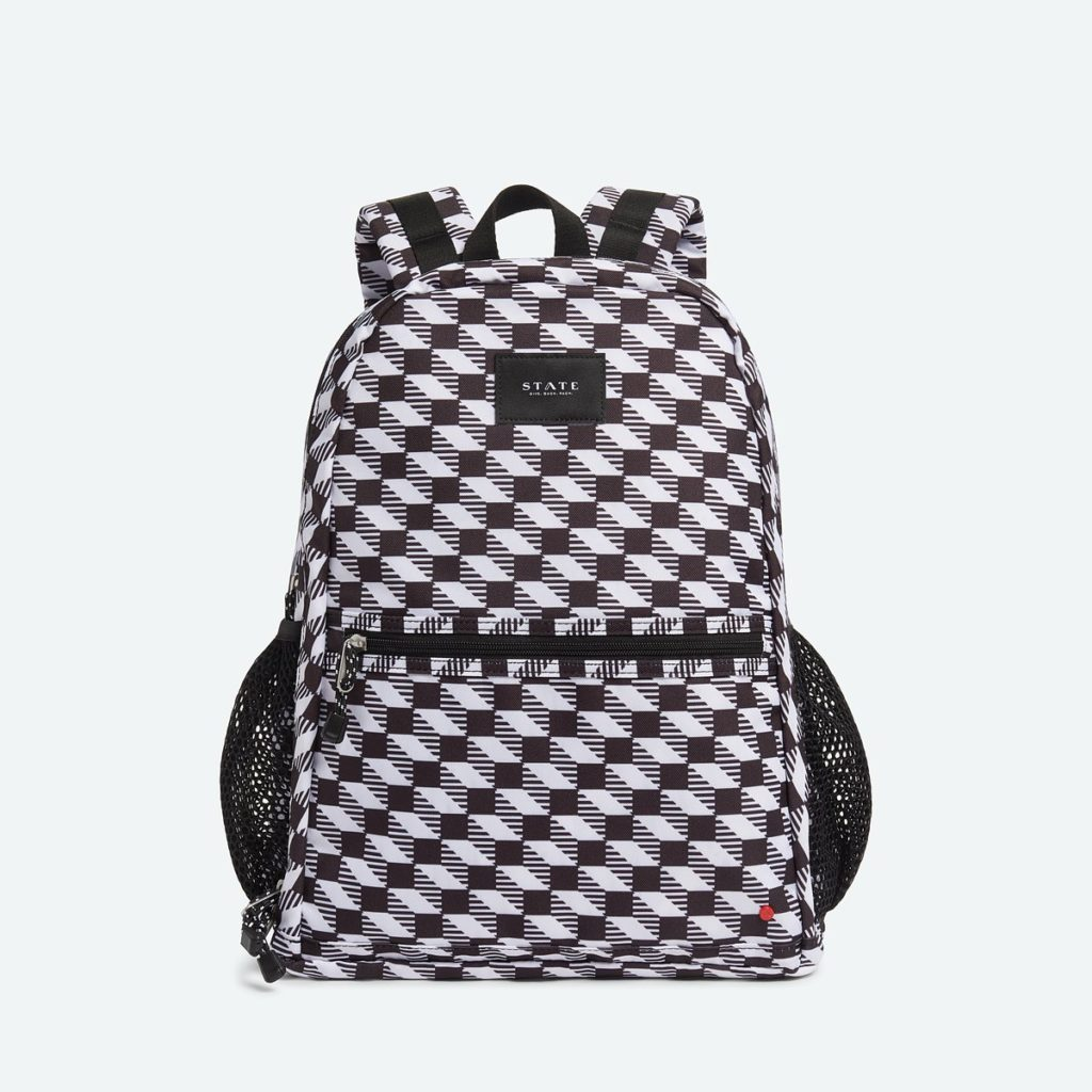 Cool backpacks for teenagers in 2019: State Bedford 3D check laptop backpack