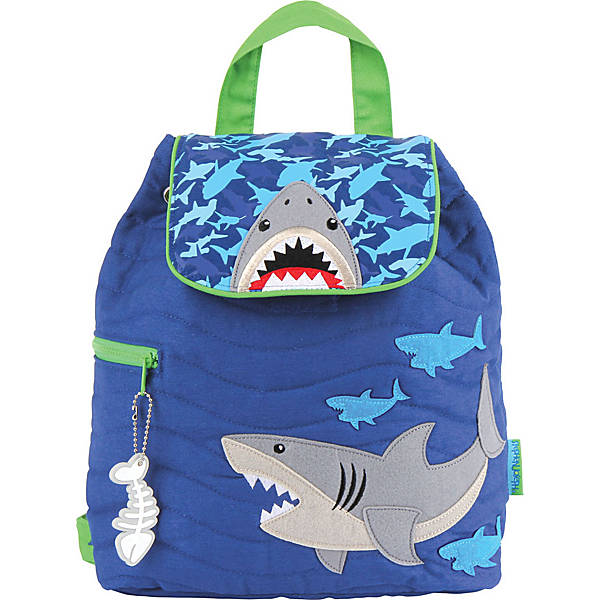 Coolest backpacks for preschool + Kindergarten: Quilted Stephen Joseph Shark Backpack | Back to School 2019 Cool Mom Picks