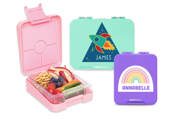 Stuck on You makes cute bentos, lunch boxes, and of course, name labels for all your kids' back to school needs (sponsor)