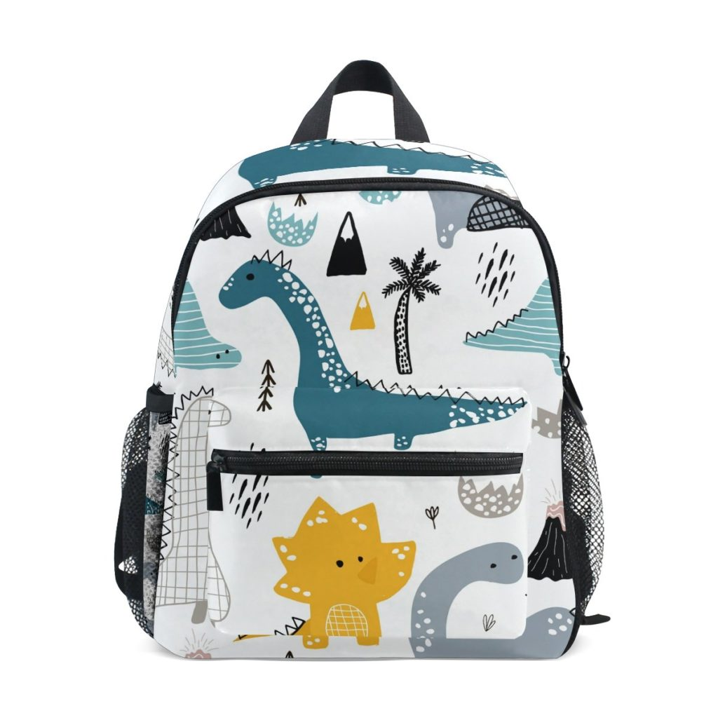 Coolest backpacks for preschool + Kindergarten: Todder dino bag with Scandinavian style print | Back to School 2019 Cool Mom Picks