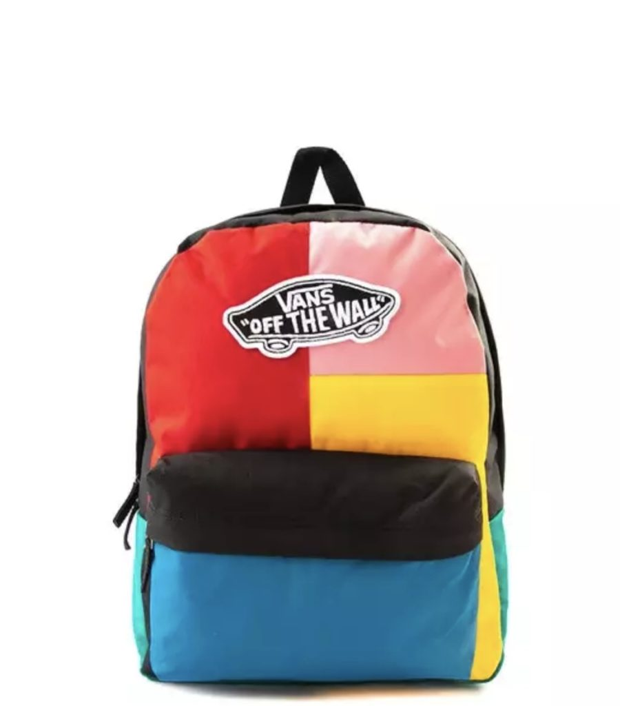 Coolest backpacks for grade school: Vans Off the Wall colorblock backpack | Back to school guide 2019 Cool Mom Picks