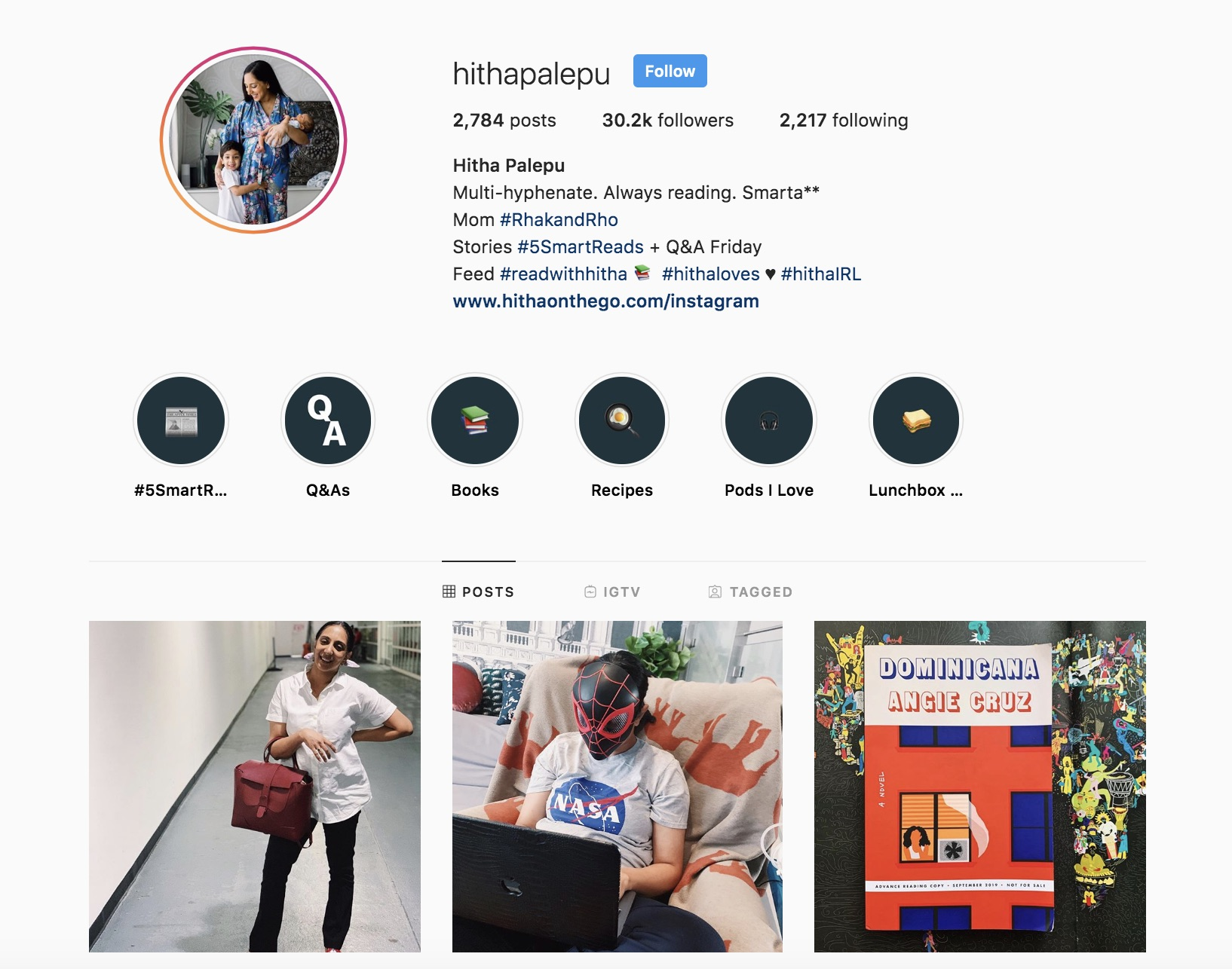 A great Instagram follow: HithaPalepu on Instagram