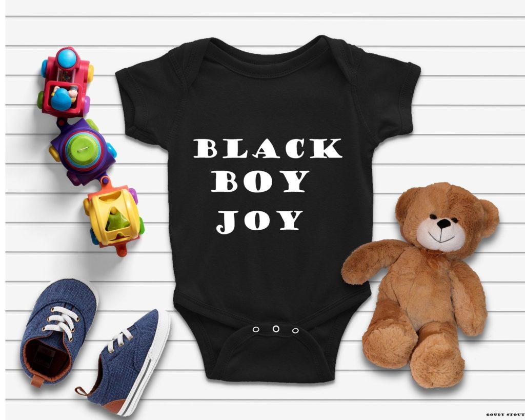 Best baby shower gifts under $15: Black Boy Joy Onesie | Cool Mom Picks Baby Shower Gift Guide