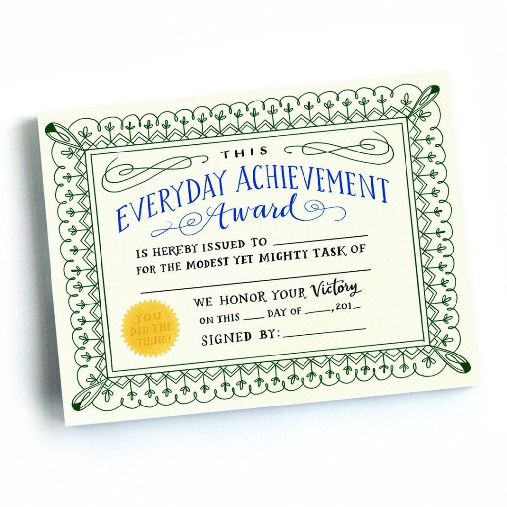 Best baby shower gifts under $15: Everyday achievement award notepad | Cool Mom Picks ultimate baby shower gift guide
