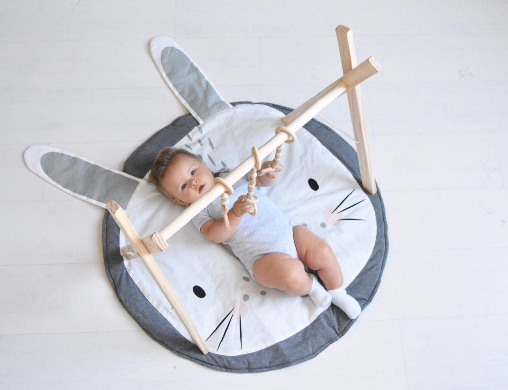 Best baby shower gifts under $50: Handmade rabbit play mat | Baby Shower Gift Guide