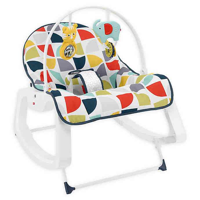 Best baby shower gifts under $50: Infant to toddler rocker by Fisher-Price | Cool Mom Picks Baby Shower Gift Guide
