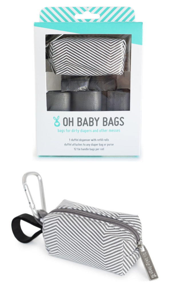 Best baby shower gifts under $15: Oh Baby baby bags and clip-on holder | Cool Mom Picks Baby Shower Gift Guide