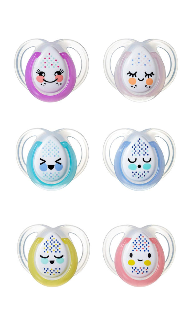 Best baby shower gifts under $15: Glow-in-the-dark nighttime pacifiers by Tommee Tippee | Cool Mom Picks Baby Shower Gift Guide