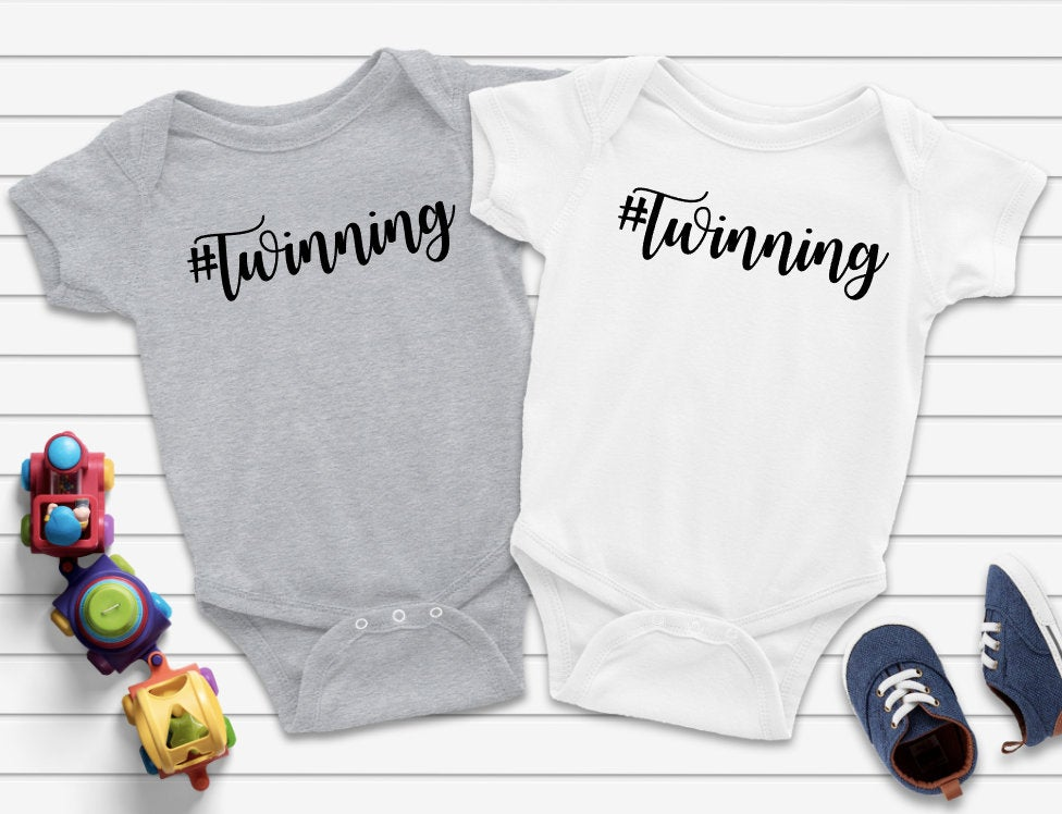 Best baby shower gifts under $50: #twinning onesie gift set | Cool Mom Picks Baby Shower Gift Guide