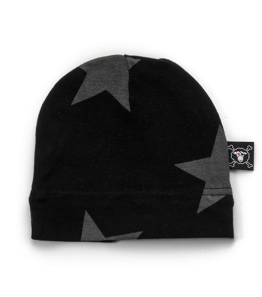 Best baby shower gifts under $15: black stars baby cap from nununu| Cool Mom Picks Baby Shower Gift Guide