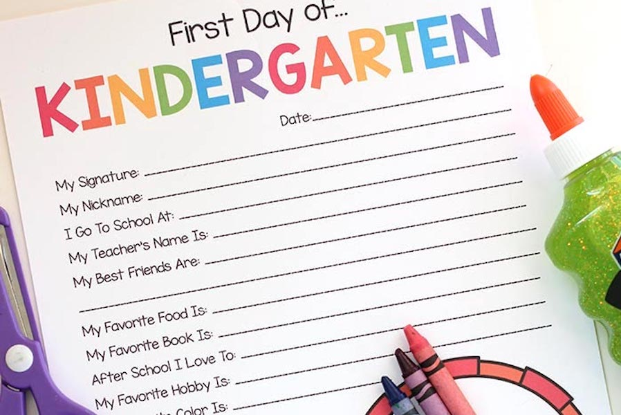 7 great Kindergarten printables for an awesome first year at school, most of them free | Back to School Guide 2019