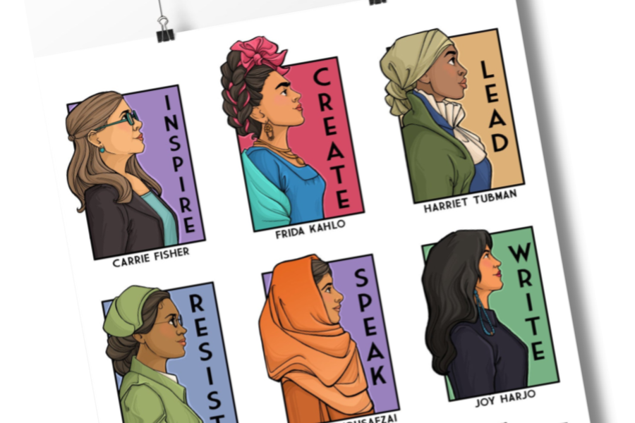 This inspirational heroine poster supports classrooms in more way than one.