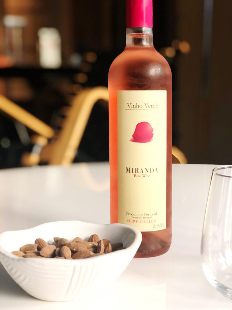 Vinho Verde Miranda Rosé is a delightful wine on its own or with meals or snacks (sponsor)