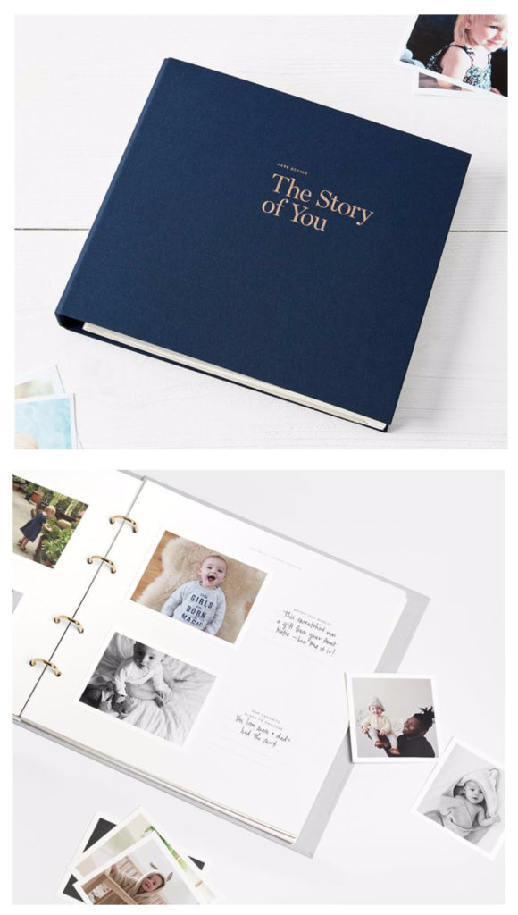 Best baby shower gifts $50-150: Artifact Uprising story of you baby.book