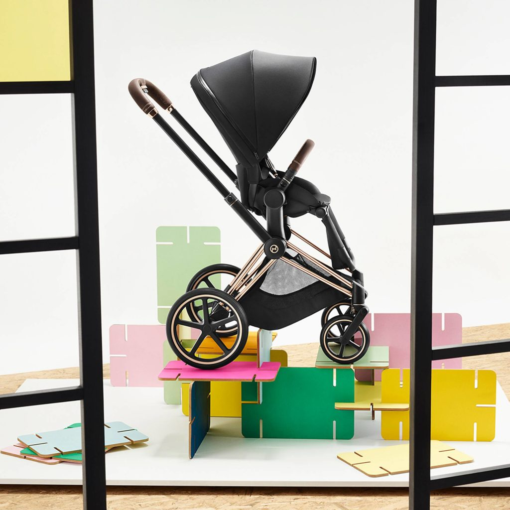 Cybex stroller system in rose gold framer: The best luxury baby gifts and shower splurges