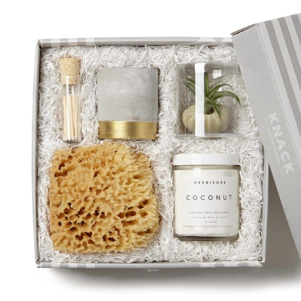 Best baby shower gifts $50-150: Just Breathe new mom spa set | Cool Mom Picks Baby Shower Gift Guide