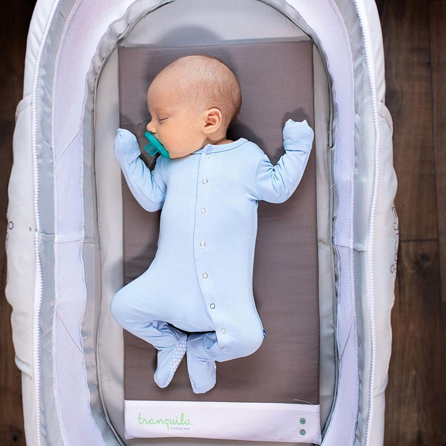 Best baby shower gifts $50-150: Tranquillo vibrating and soothing mat | Cool Mom Picks Baby Shower Gift Guide