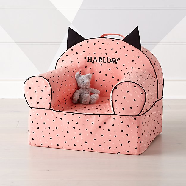 Best baby shower gifts $50-150: Personalized kitty chair | Cool Mom Picks Baby Shower Gift Guide