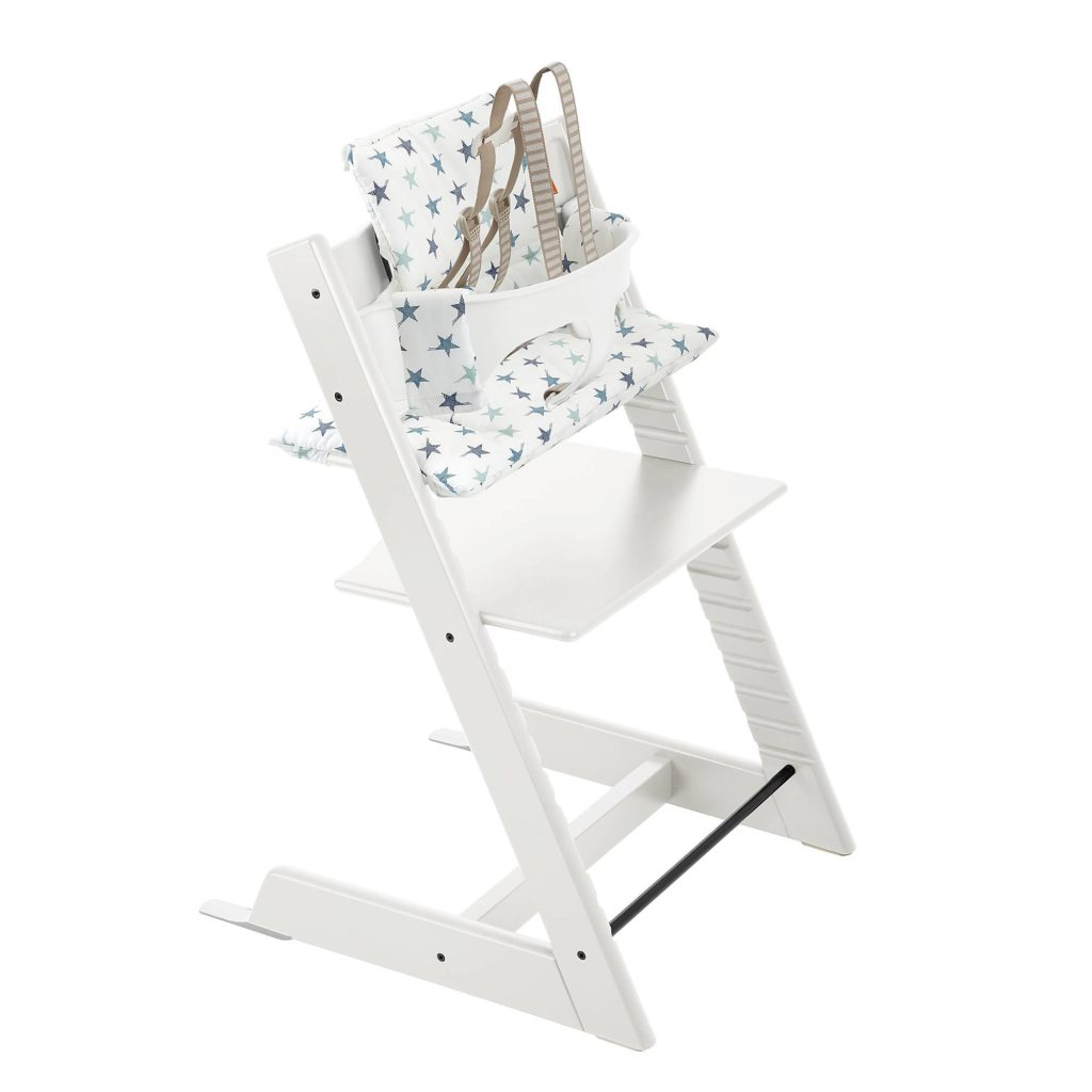 4-piece complete Tripp Trapp high chair set from Stoke: The best luxury baby gifts and shower splurges