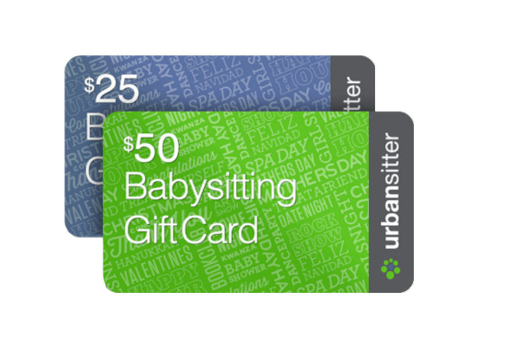 Best baby shower gifts $50-150: Urban Sitter gift cards | Cool Mom Picks Baby Shower Gift Guide