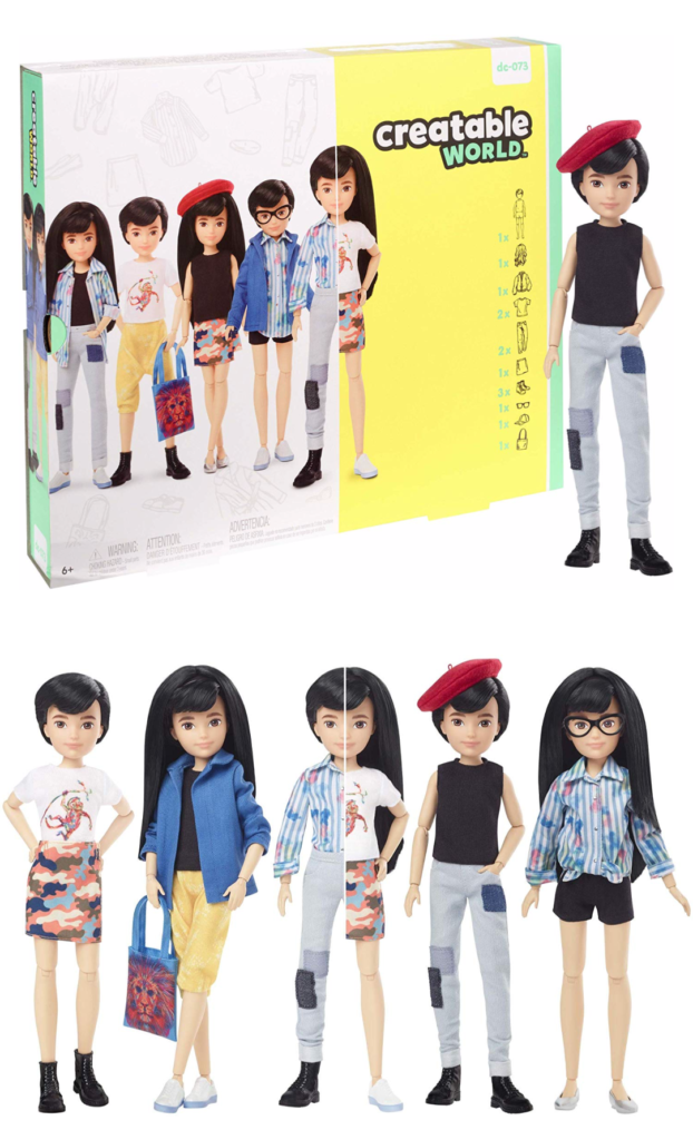One of Mattel's new Creatable World gender-neutral doll kits: A blank canvas for creativity and imaginative play