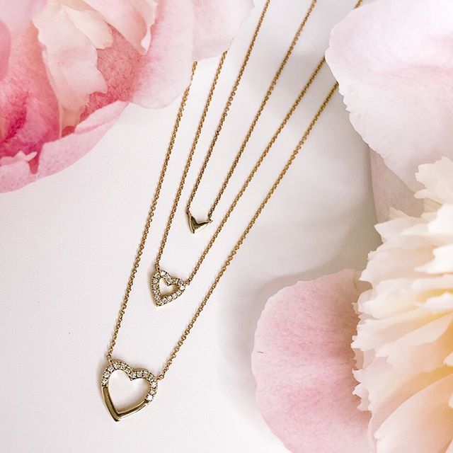 Dana Rebecca diamond pave heart necklaces: Luxury baby gifts and shower splurges