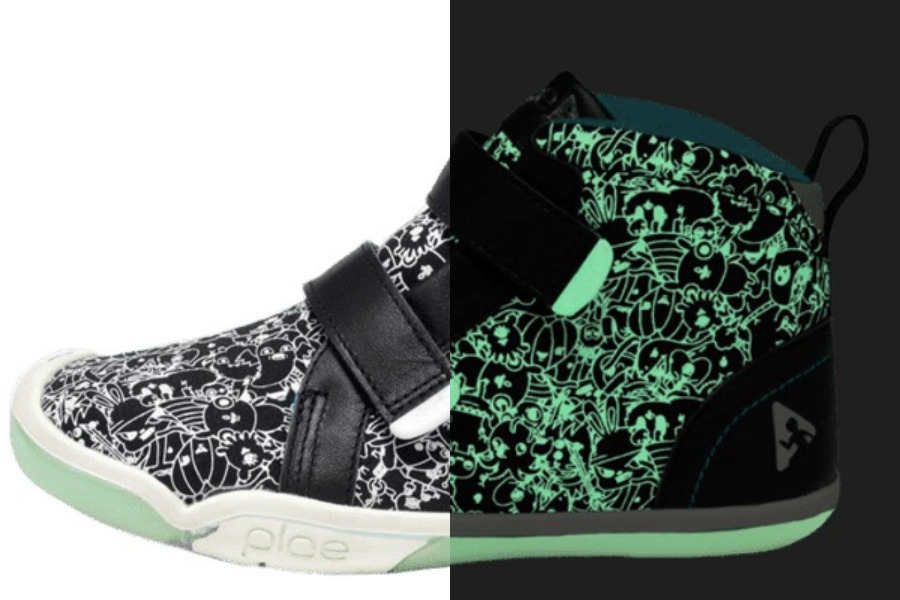 These new PLAE x Jasper Wong glow in the dark sneakers are