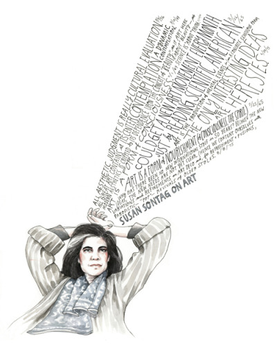 Susan Sontag on art, illustrated by Wendy MacNaughton: available through Art Pickings by Brain Pickings