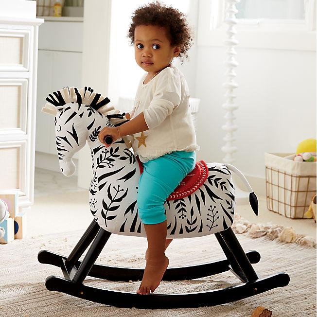 Best baby shower gifts $50-150: Zebra rocker | Cool Mom Picks Baby Shower Gift Guide