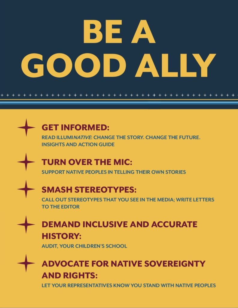 How to be a good ally to Native Peoples, via IllumiNative