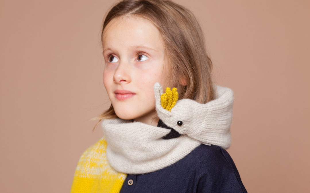 These hand-knit animal scarves require no food, no water, but lots of love.
