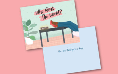 Cards honoring women's achievements beyond motherhood and marital status. (Shocking, I know.)