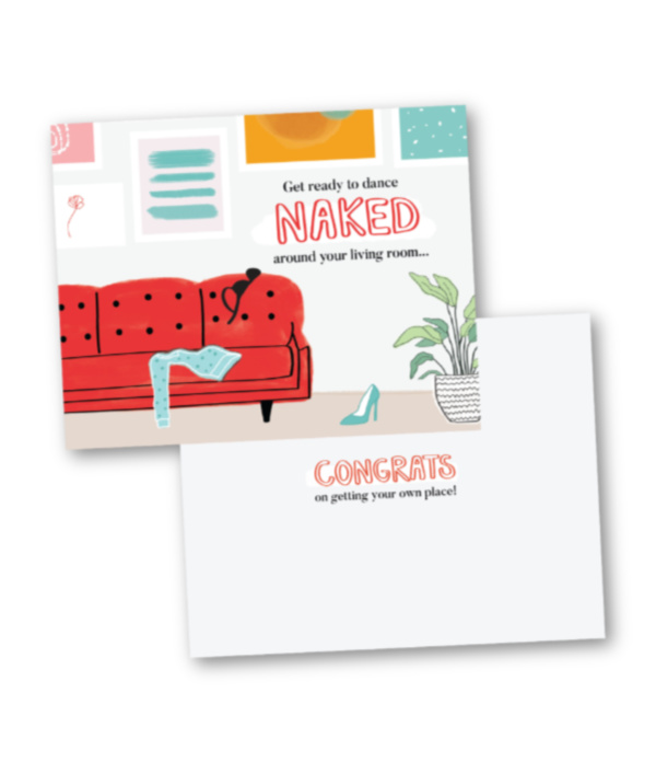 Statement cards celebrating women's achievements: First home or apartment