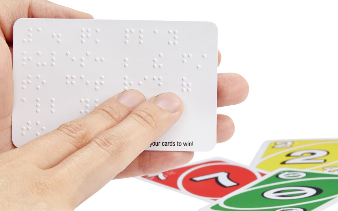 The new UNO Braille deck lets sighted and visually impaired families play together