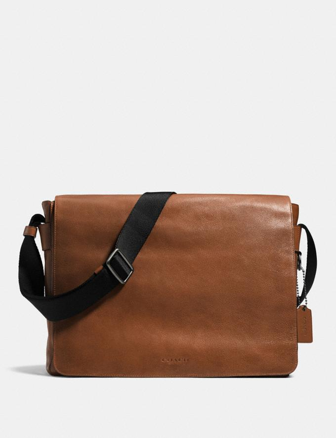 Coach leather courier on sale