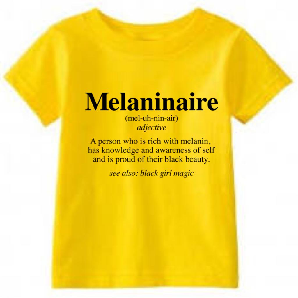 Melaninnaire t-shrit for kids from Yaya & Quinn