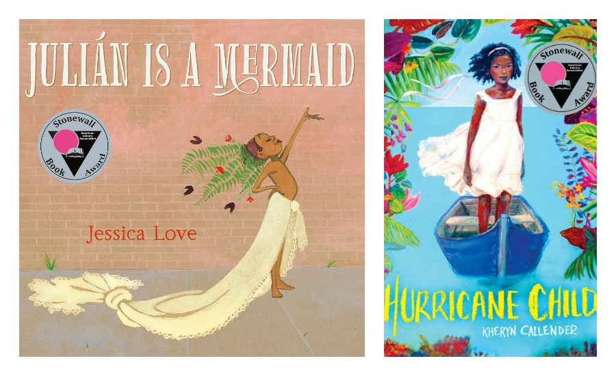 The best children's books of 2019: The Stonewall Book Award winners | Julian is a Mermaid by Jessica Love and Hurricane Child by Kheryn Callender