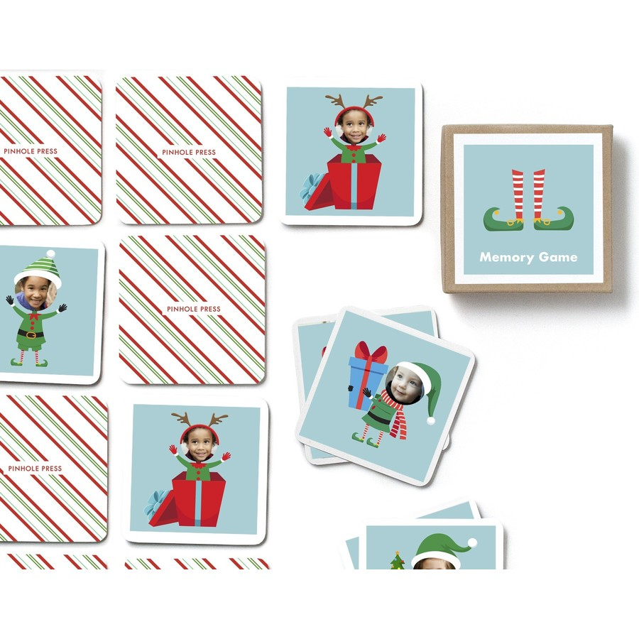 Elf Photo Memory Game personalized by Pinhole Press