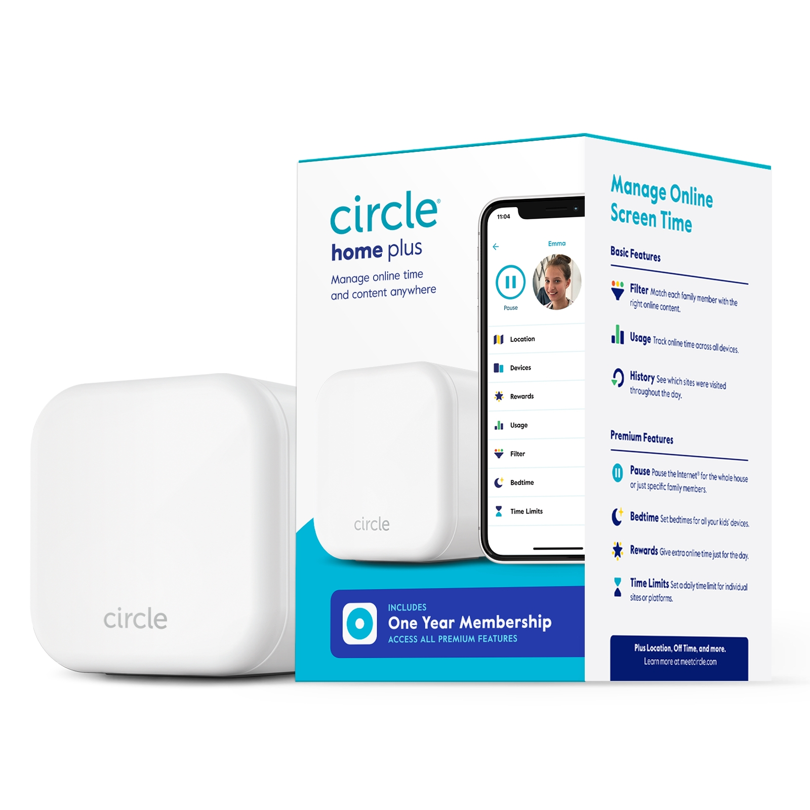 Monitor screen time with Circle Home Plus   sponsor