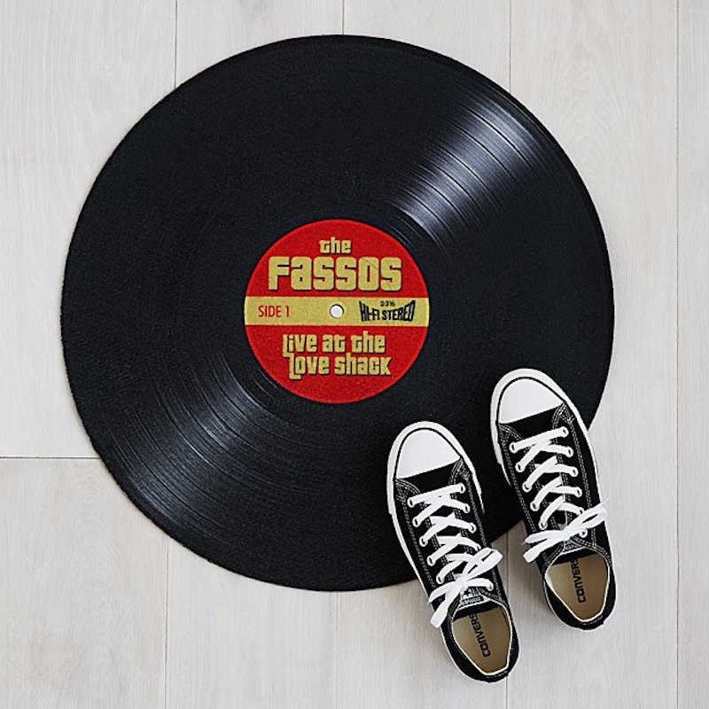 Personalized Christmas gifts: Vinyl Record Doormat