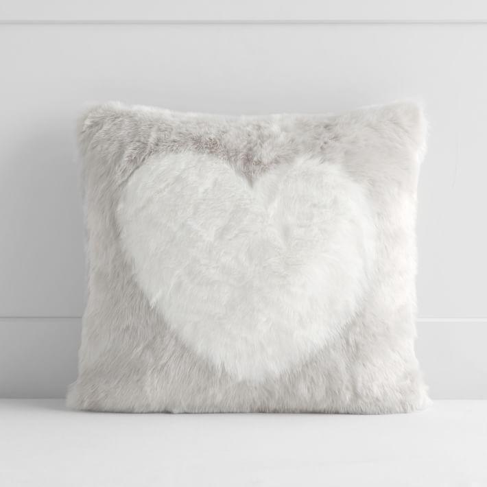 Pottery Barn Teen x St. Jude's Heart faux fur pillow