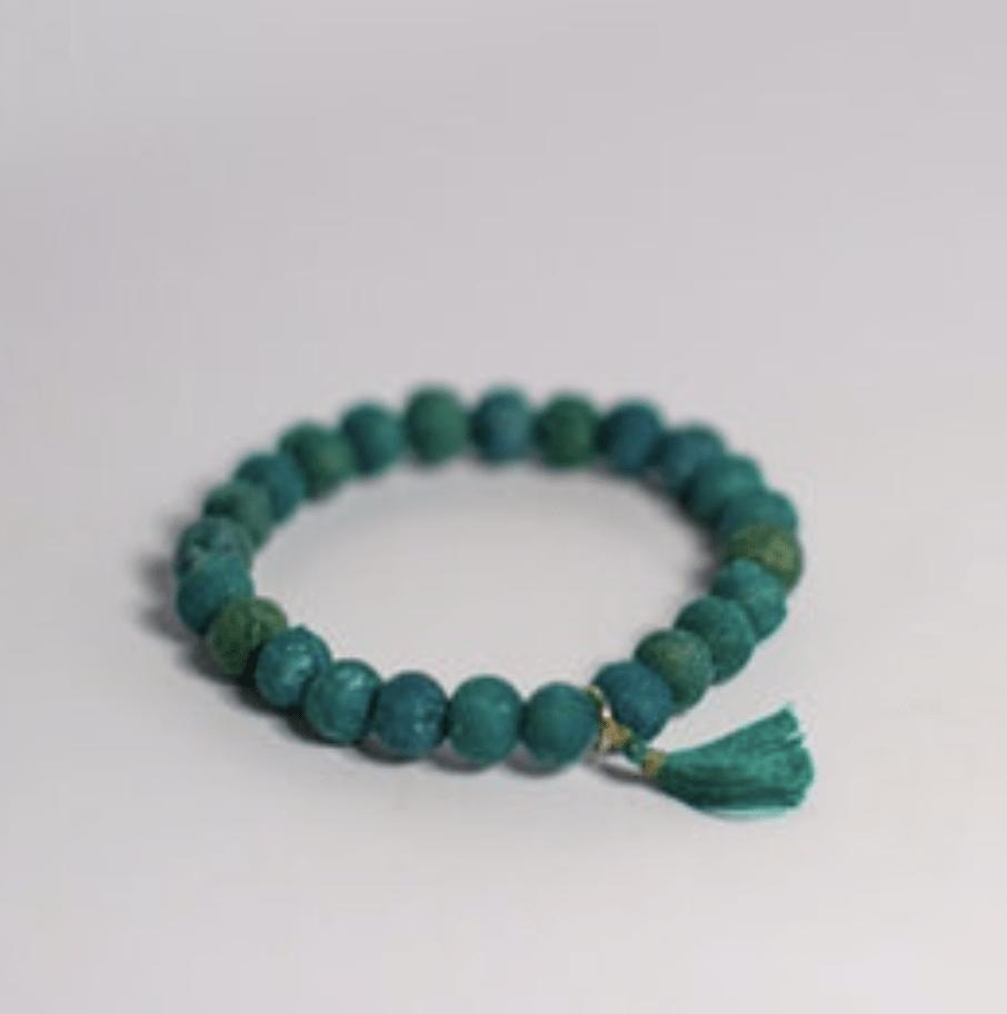 Teal Kantha Bracelet from Heifer Intl: Gifts that give back