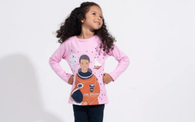 A collection of shirts for girls that bring herstory to life.