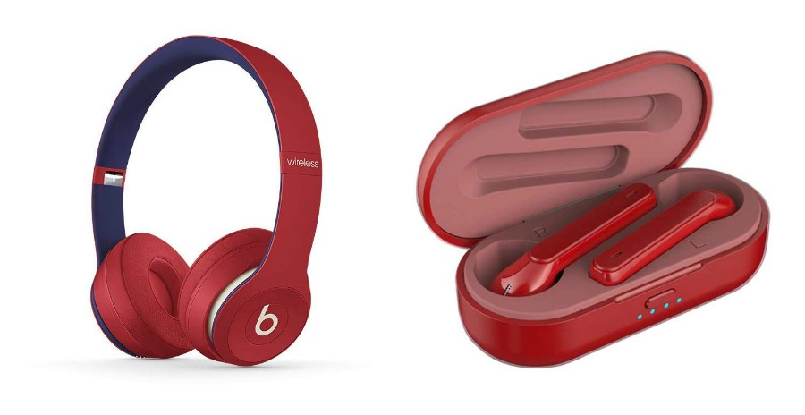 Valentine's Day gift ideas for boys: Beats Solo3 on-ear headphones or MIMEI metallic red earbuds
